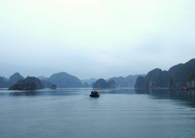 Retour vers le port d'Halong Vietnam