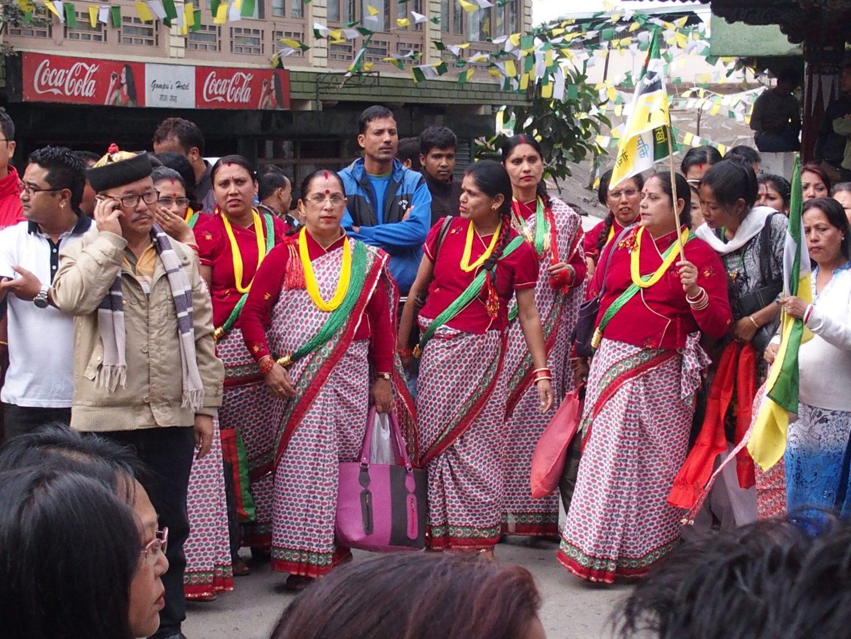 Autre groupe de participants manifestation Kalimpong Inde