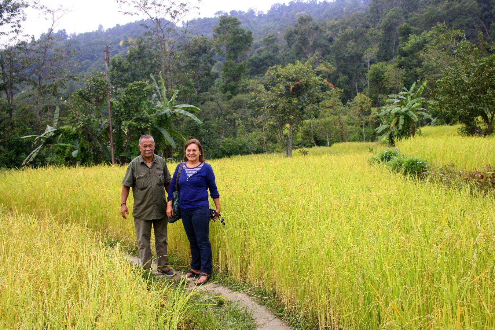 Balades dans les champs avec le père de Karishma Kalimpong Inde