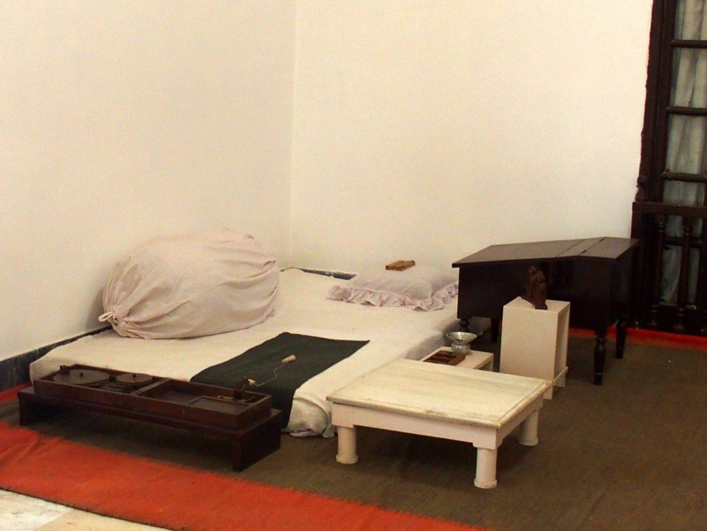 Chambre de Gandhi New Delhi Inde