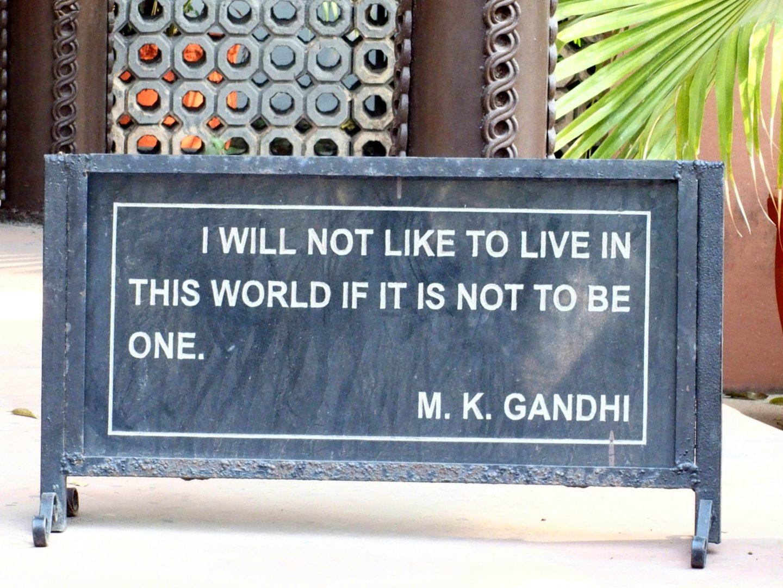 Combat de Gandhi Inde