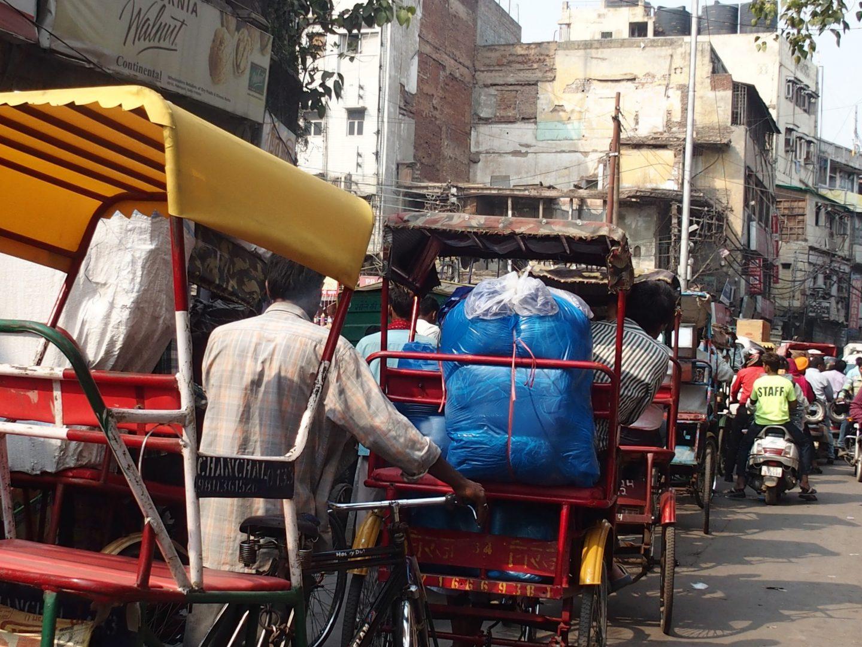 Dans les rues d'Old Delhi Inde