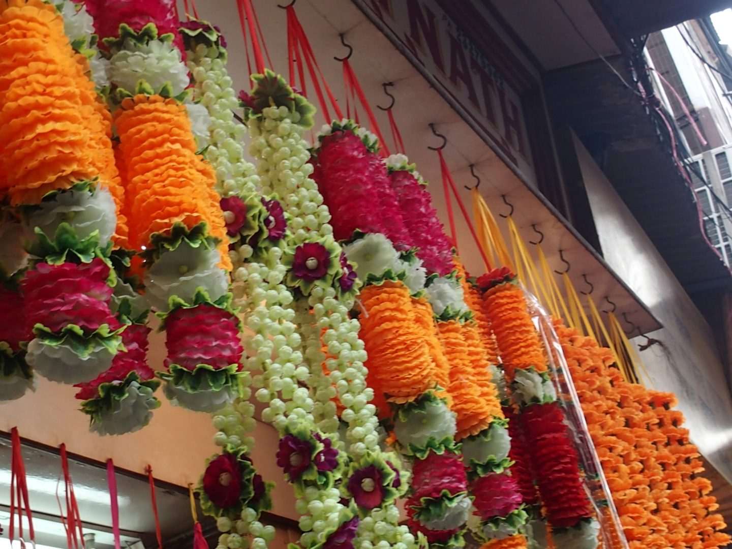 Décorations florales Old Delhi Inde