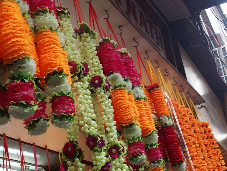 Décorations florales Old Delhi Inde