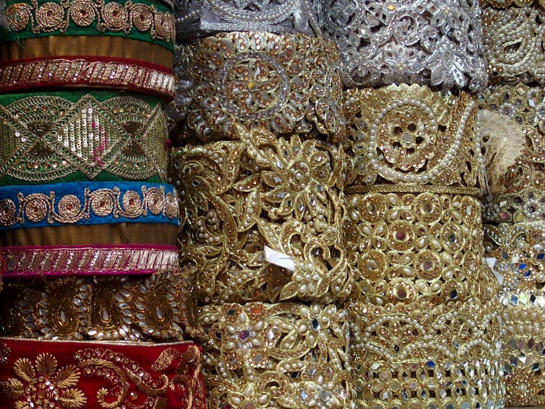 Echoppe rubans Old Delhi Inde