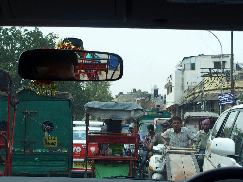 Embouteillage Old Delhi Inde