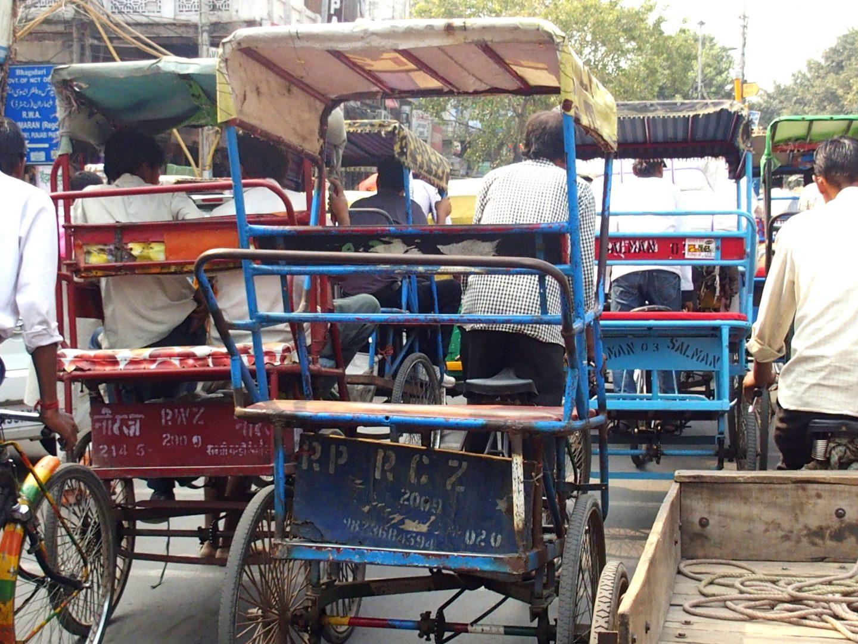 Embouteillage rickshaws Old Delhi Inde