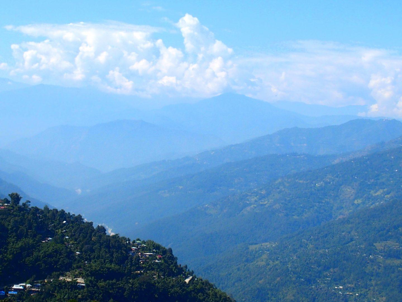 Kalimpong au milieu des montagnes Inde