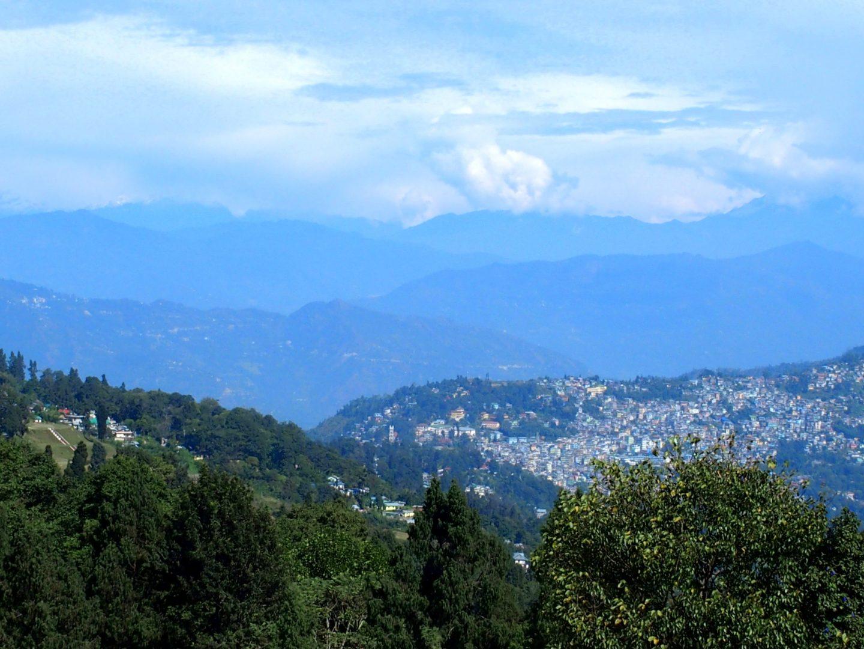 Kalimpong dans les montagnes Inde