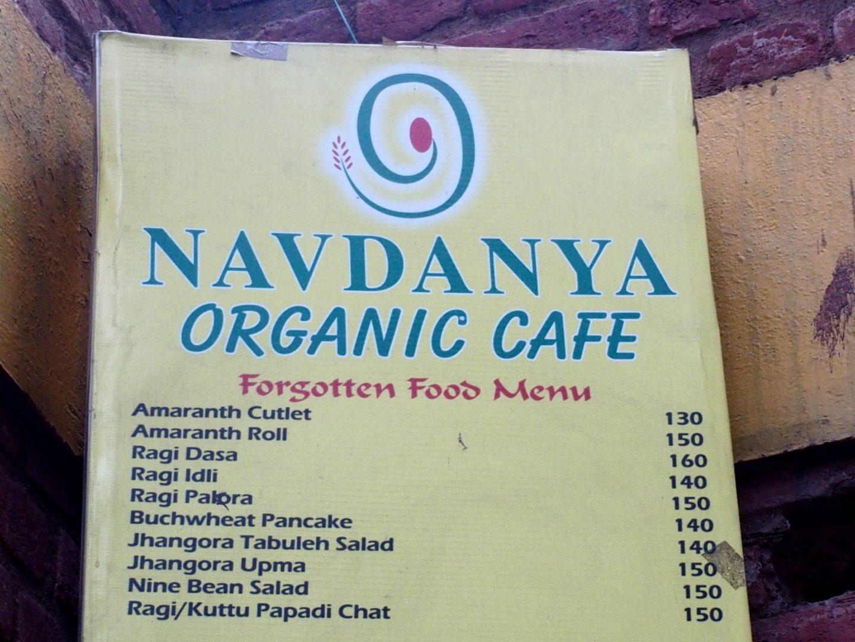 Menu des légumes oubliés Nadvanya Delhi Inde