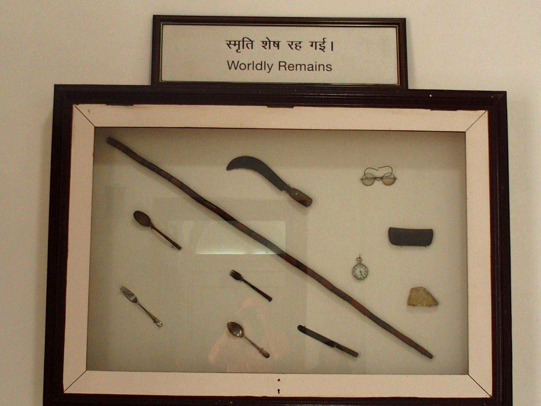 Objets usuels de Gandhi Inde