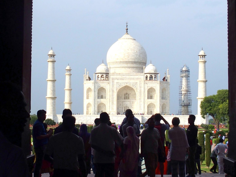 Première photo du Taj Mahal Inde