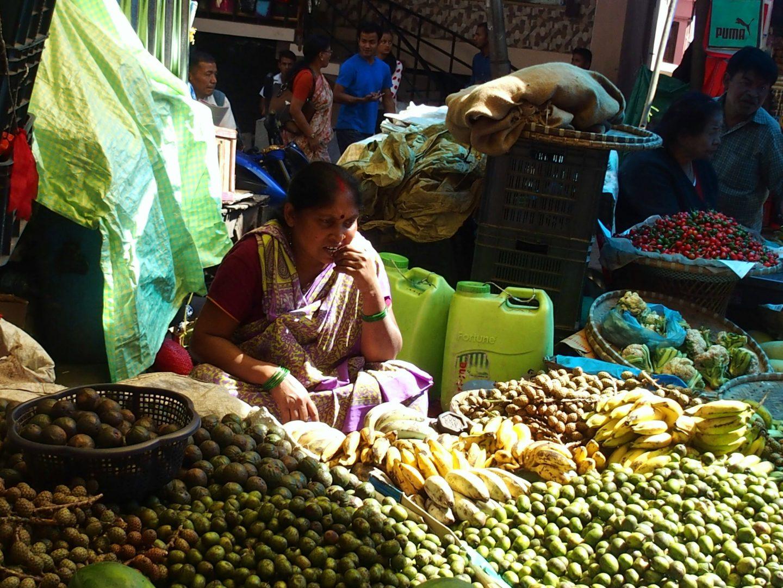 Sur le marché de Kalimpong Inde