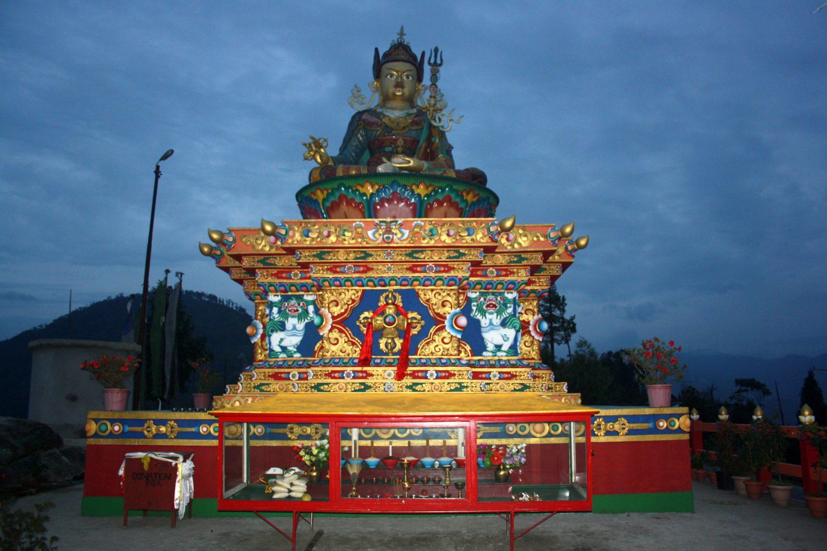 Temple Lord Shiva en soirée Kalimpong Inde