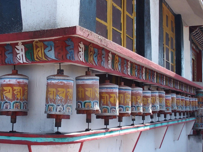 Moulins à prière temple Kalimpong Inde