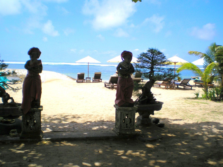 Accès à la plage de Sanur Bali
