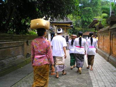 Balinais à Besakih Bali