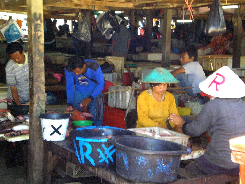 Marché aux poissons Jimbaran Bali