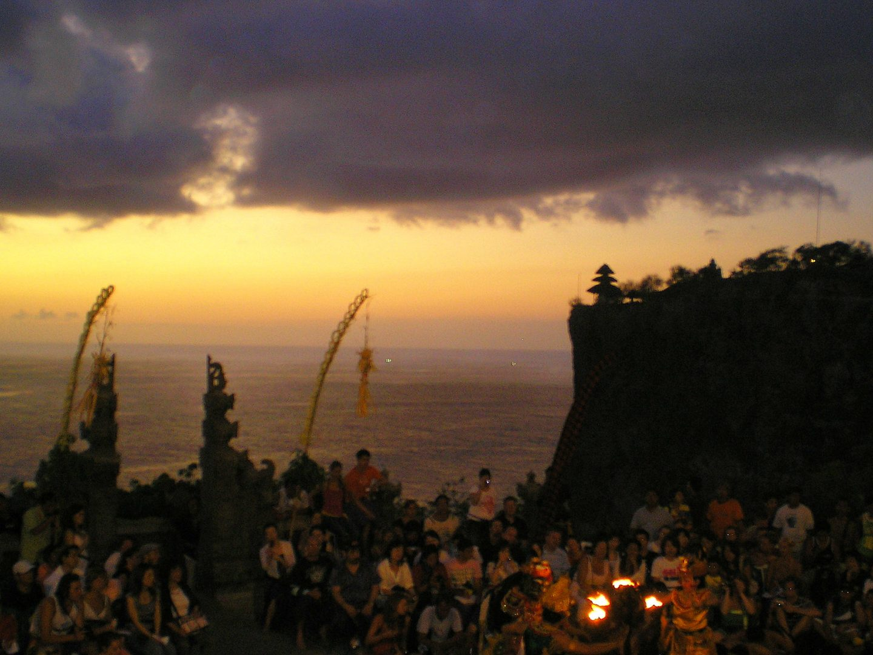 Spectacle soirée temple Uluwatu Bali