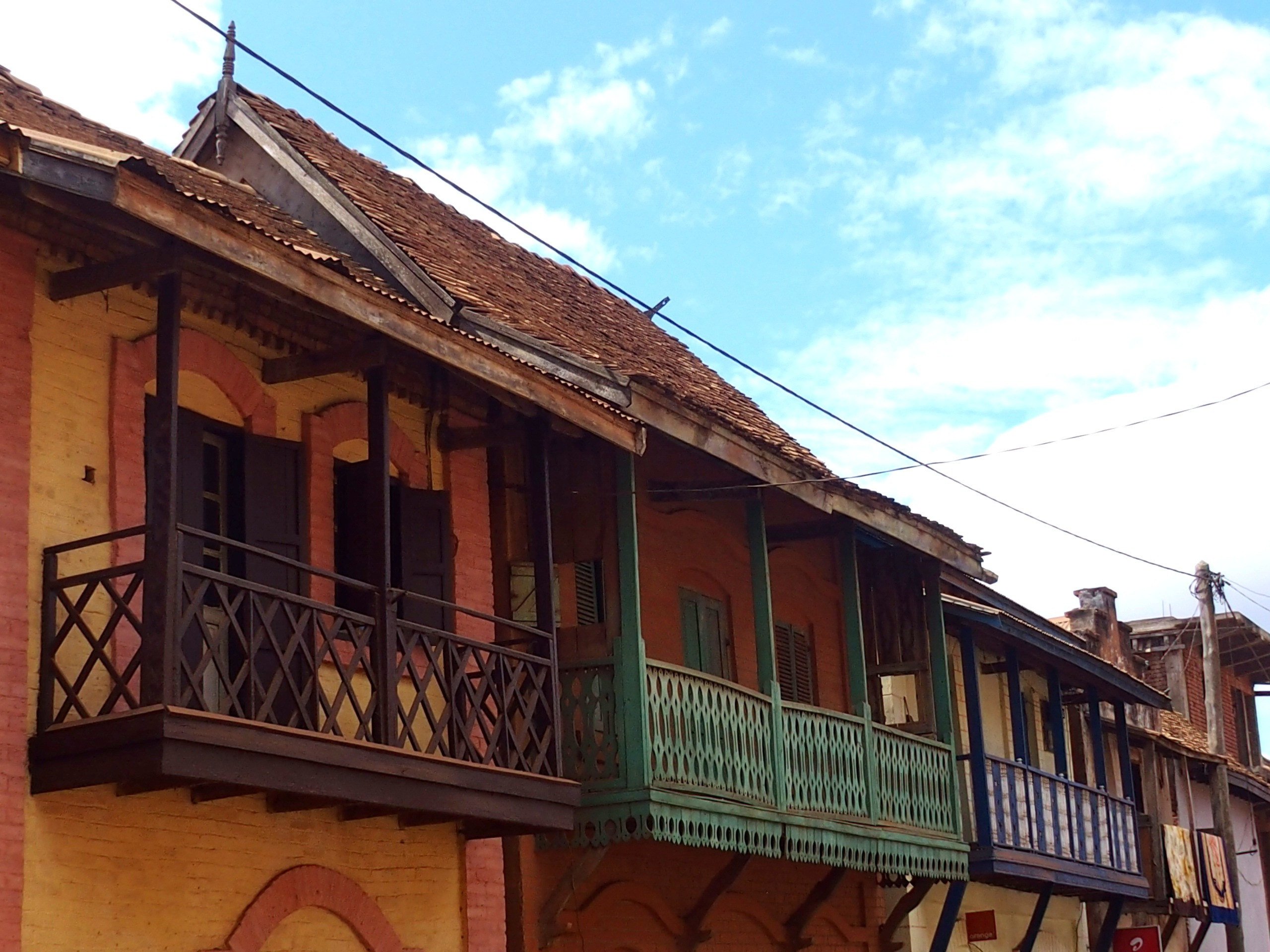 Maisons colorées Ambalavao Madagascar