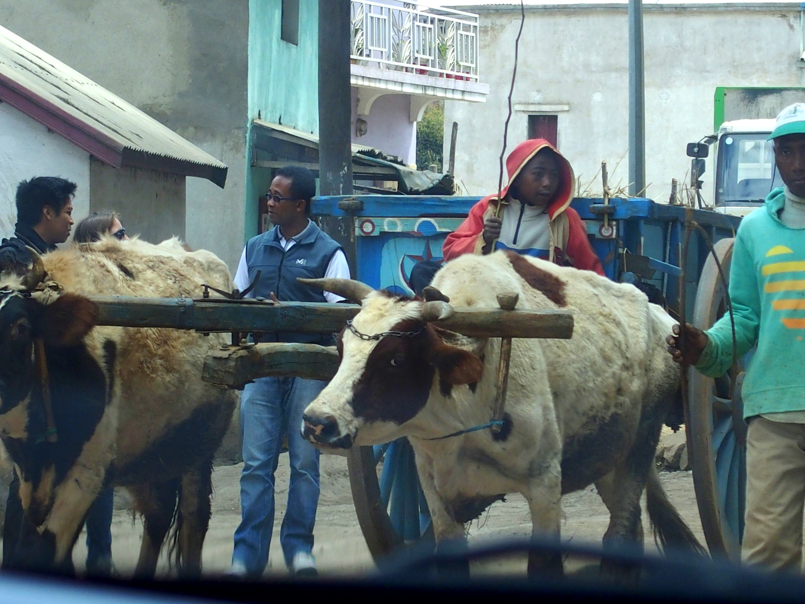 Traversée de village Madagascar.