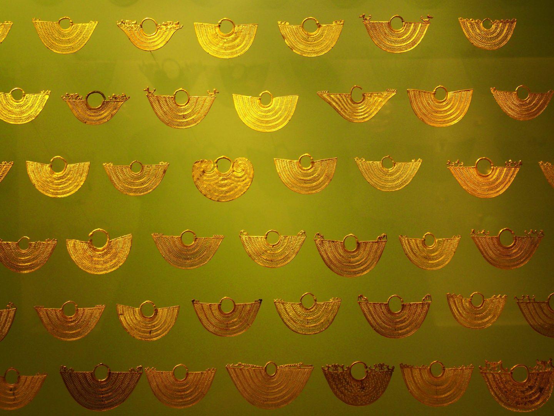 Boucles oreilles Musée de l'Or Bogota Colombie