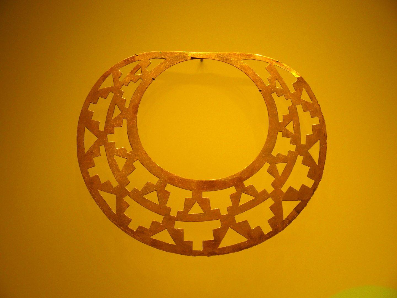 Collier du Musée de l'Or Bogota Colombie