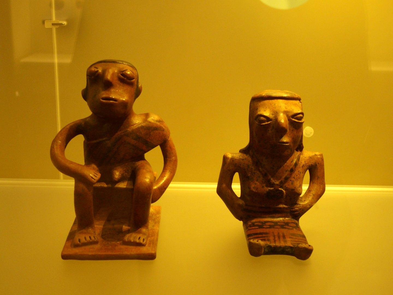 Couple terre cuite Musée de l'Or Bogota Colombie