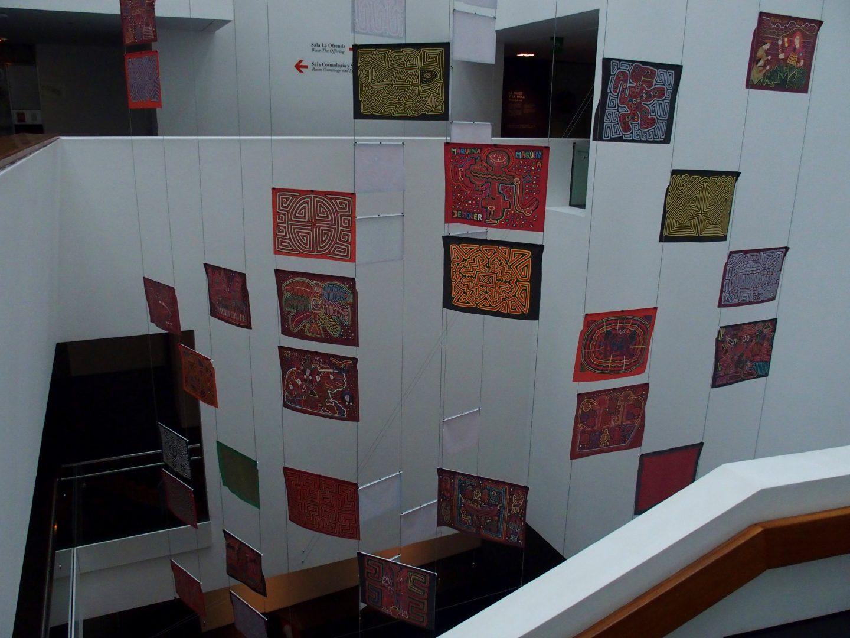 Expo tissus traditionnels Musée de l'Or Bogota Colombie