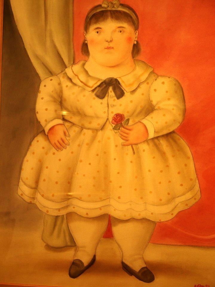 Fillette à la rose Musée Botéro Colombie