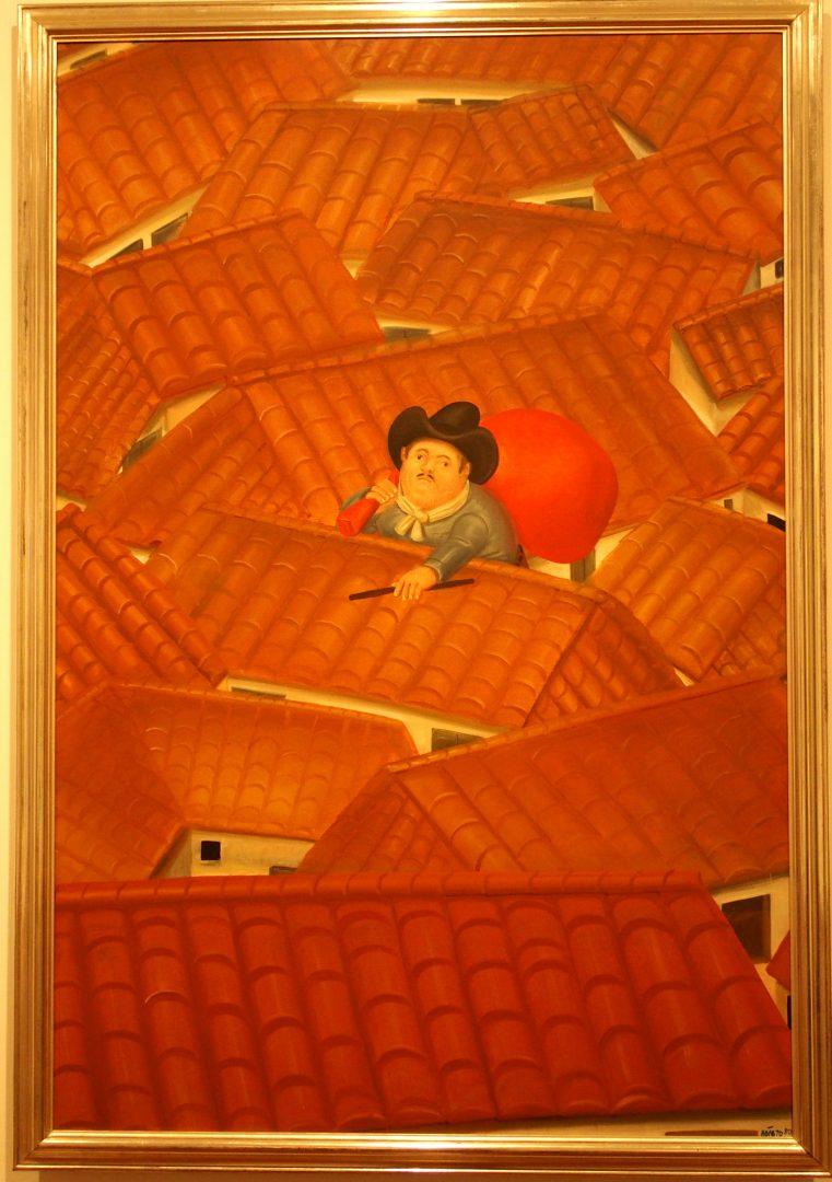 Le voleur sur le toit Musée Botero Colombie