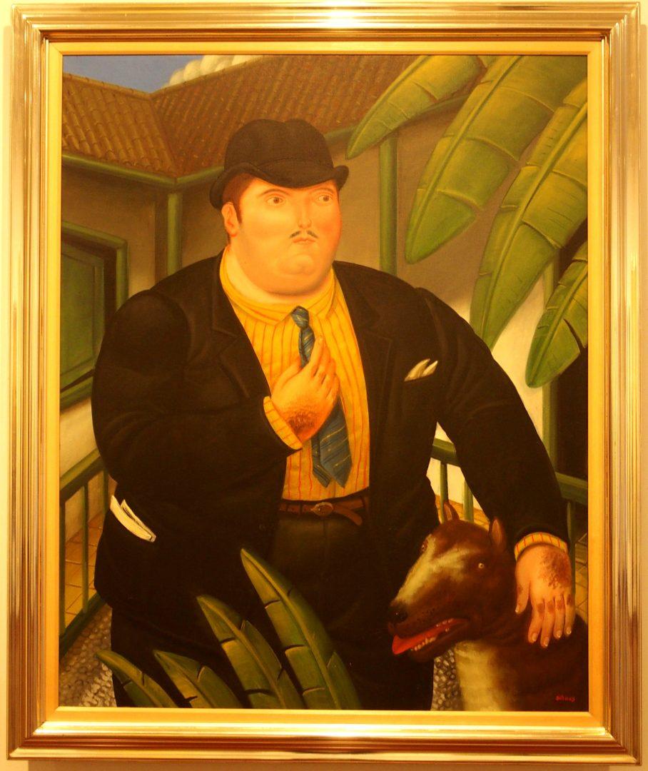 L'homme et son chien Musée Botéro Colombie