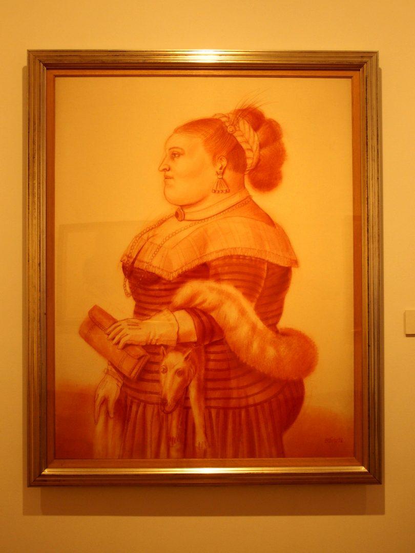 Mujer con zorro Musée Botéro Bogota Colombie