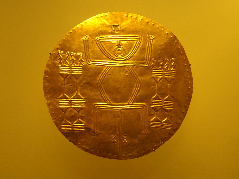 Pièce d'or Musée de l'Or Bogota Colombie