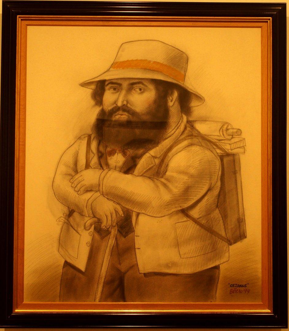 Portrait de Cézanne Musée Botero Colombie
