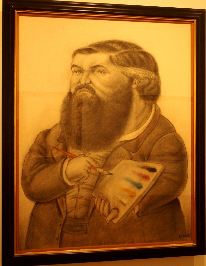 Portrait de Courbet Musée Botéro Colombie
