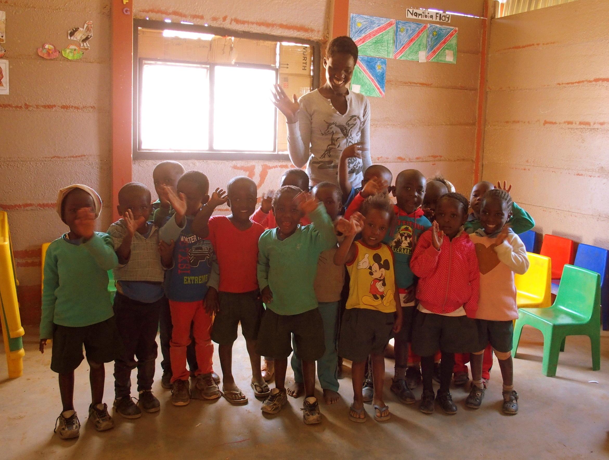 Coucou des enfants école HISA Namibie