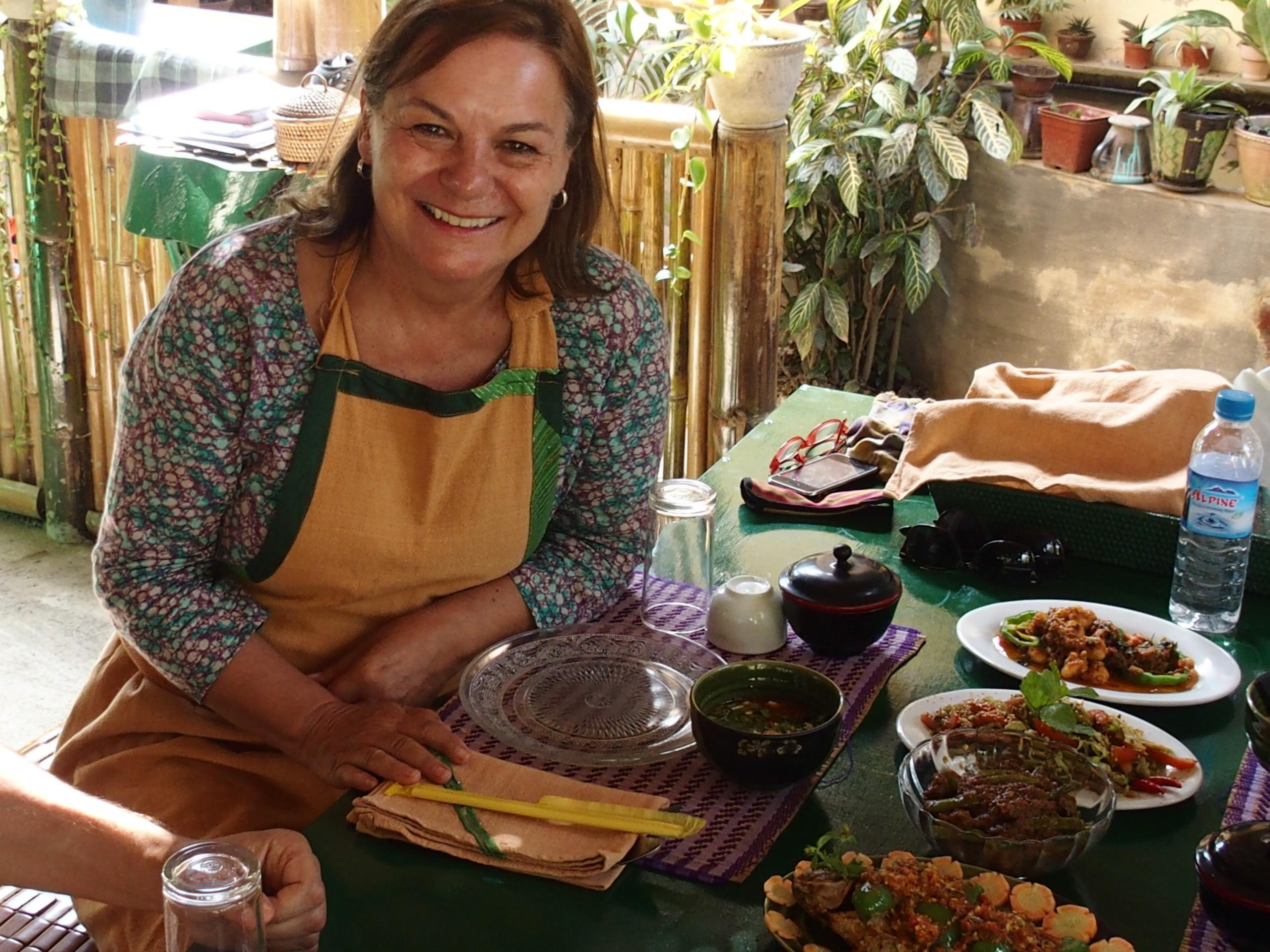 Dégustation après un cours de cuisine à Inle en Birmanie