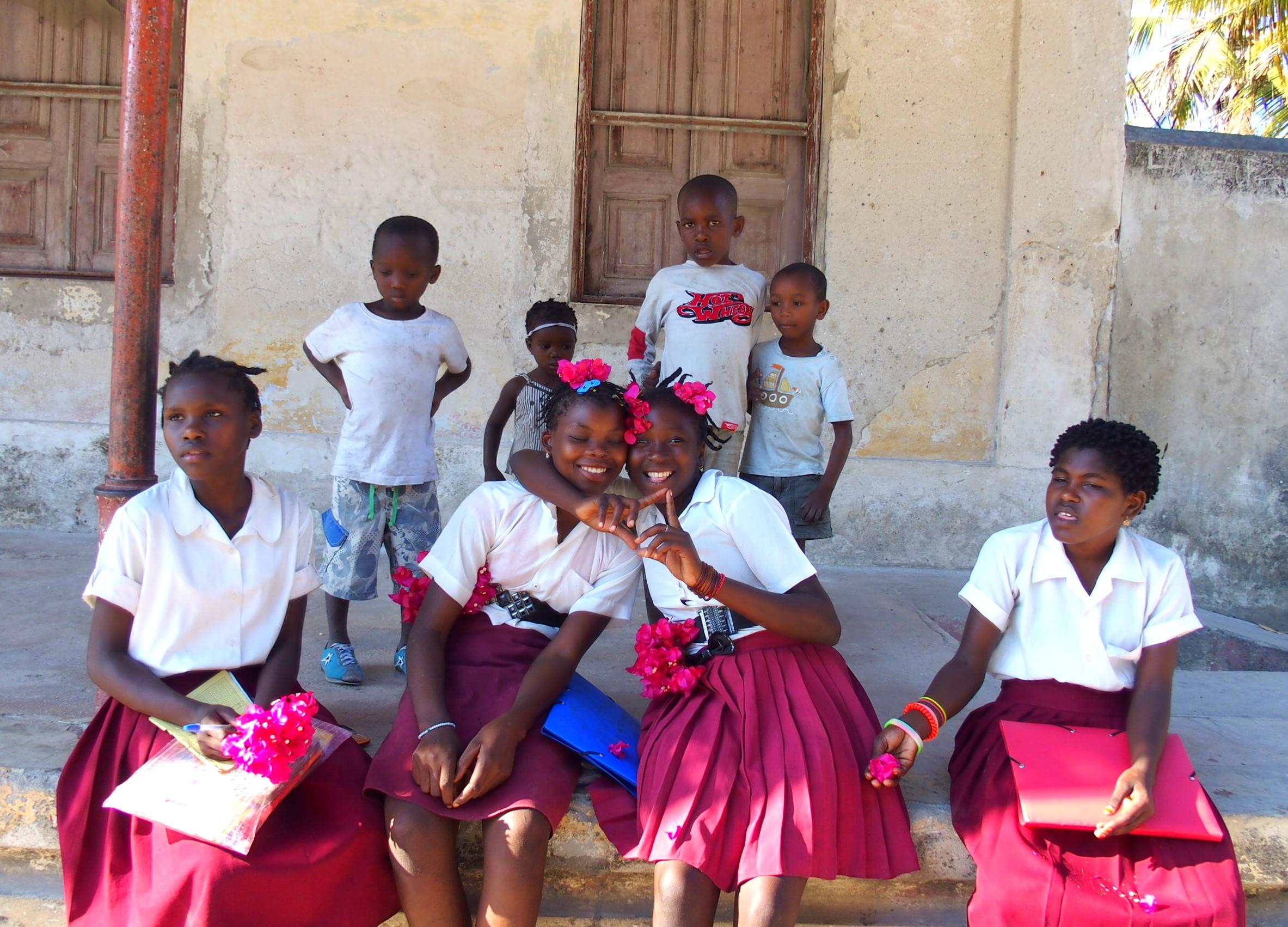 Jeunes élèves sur l'île d'Ibo Mozambique