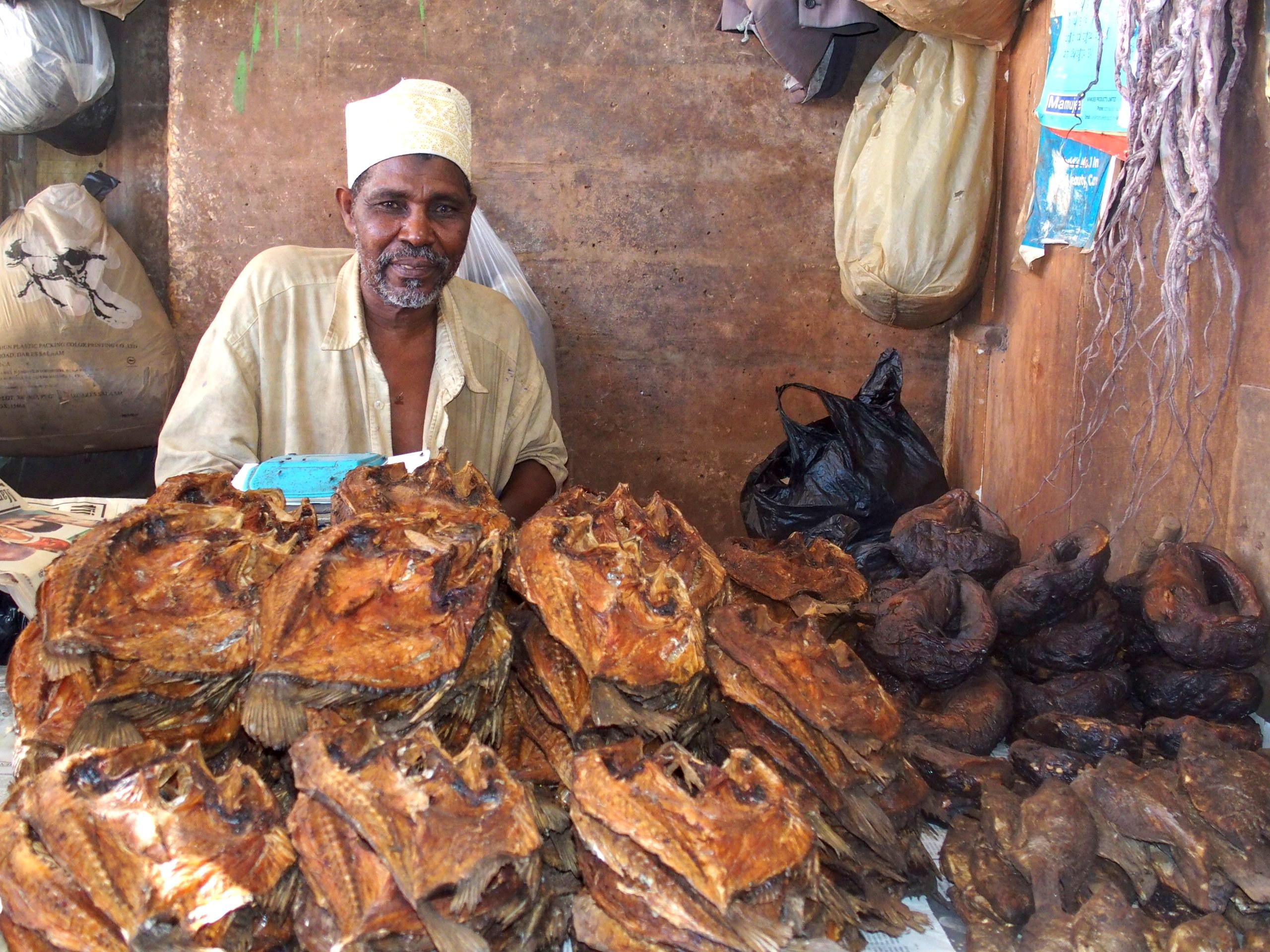 Marché Dar es Salaam Tanzanie.