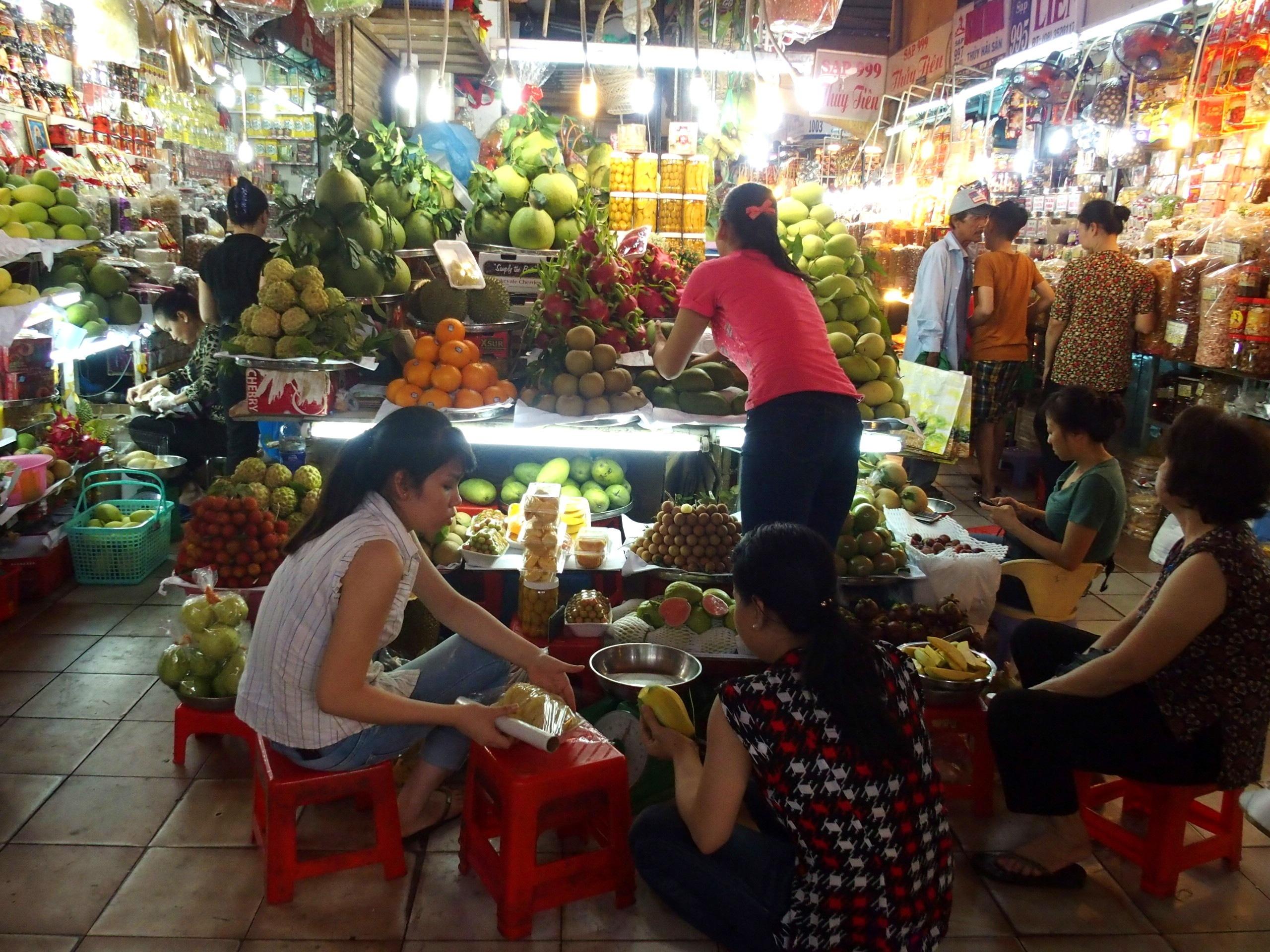 Marché Ho chi Minh Vietnam