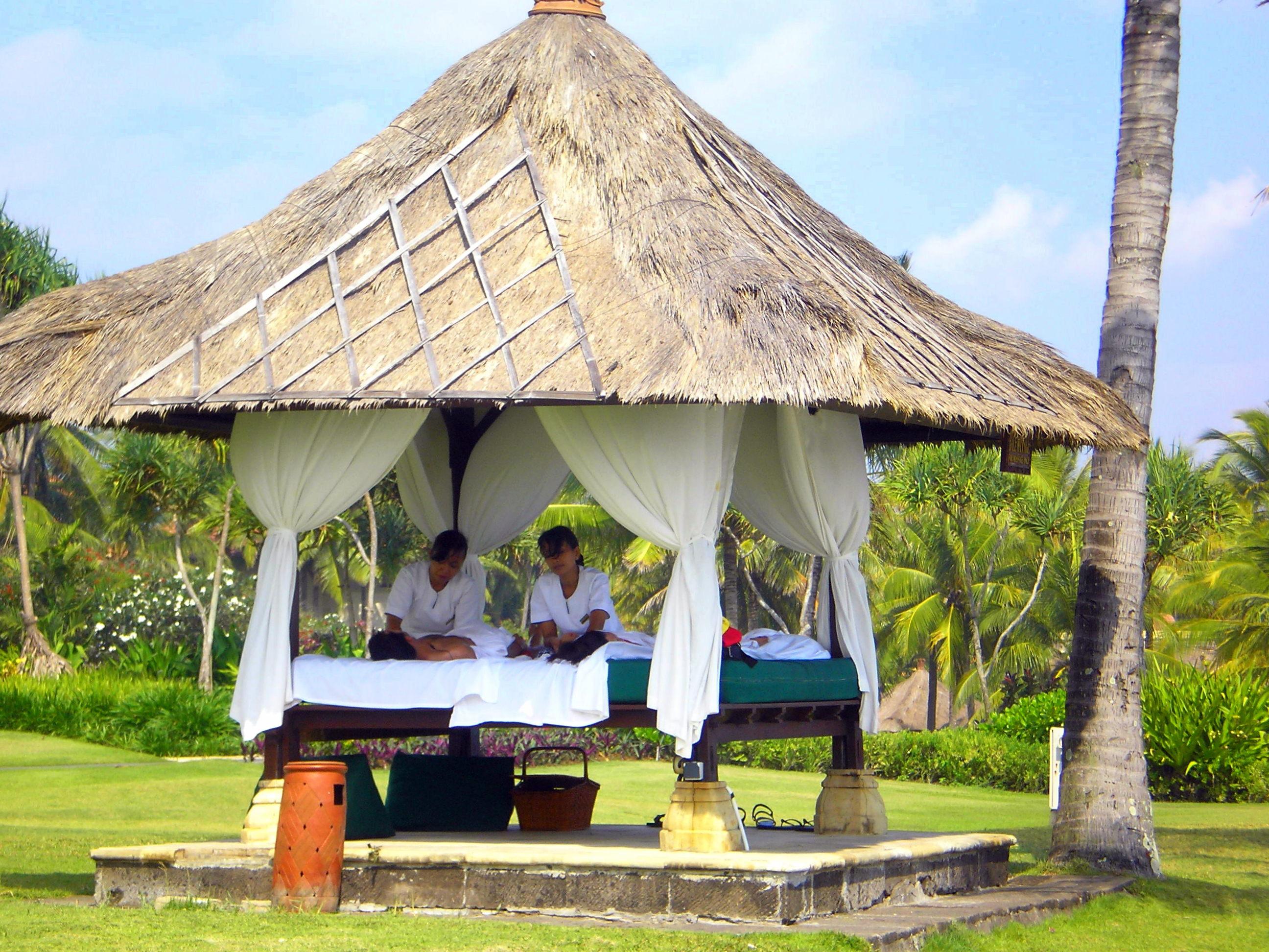Massage à quatre mains à Bali.