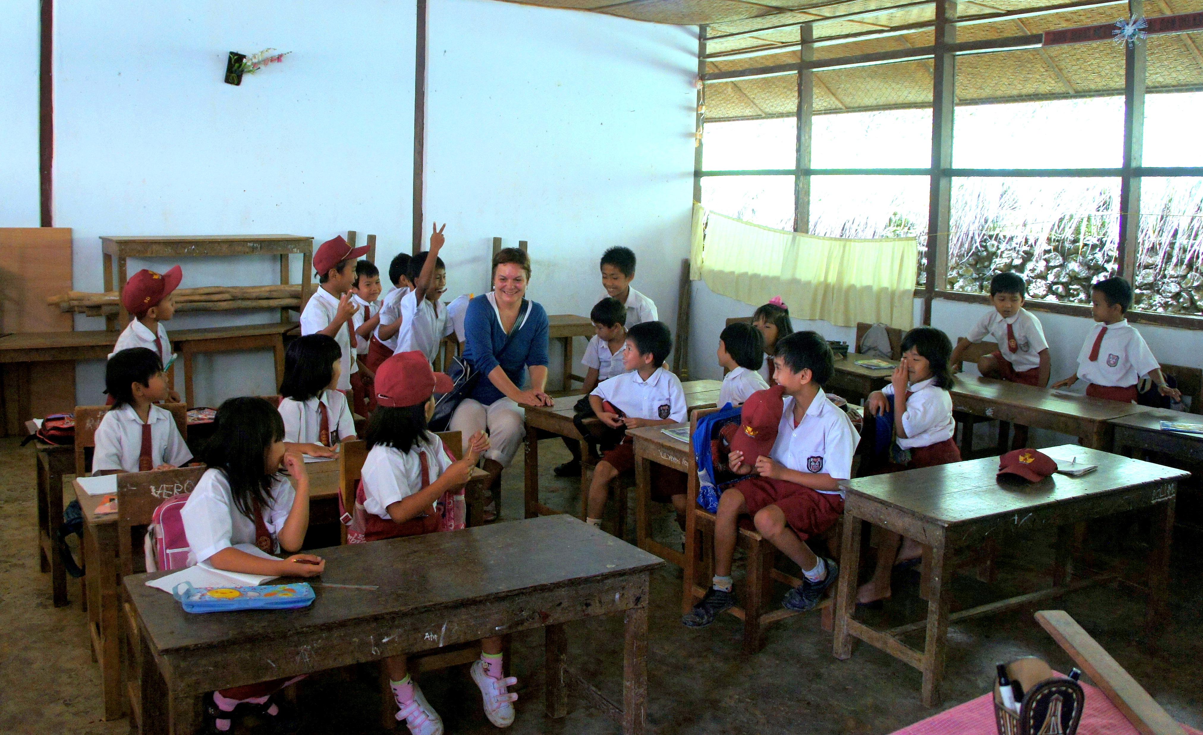 Rencontre avec des élèves école Sulawesi