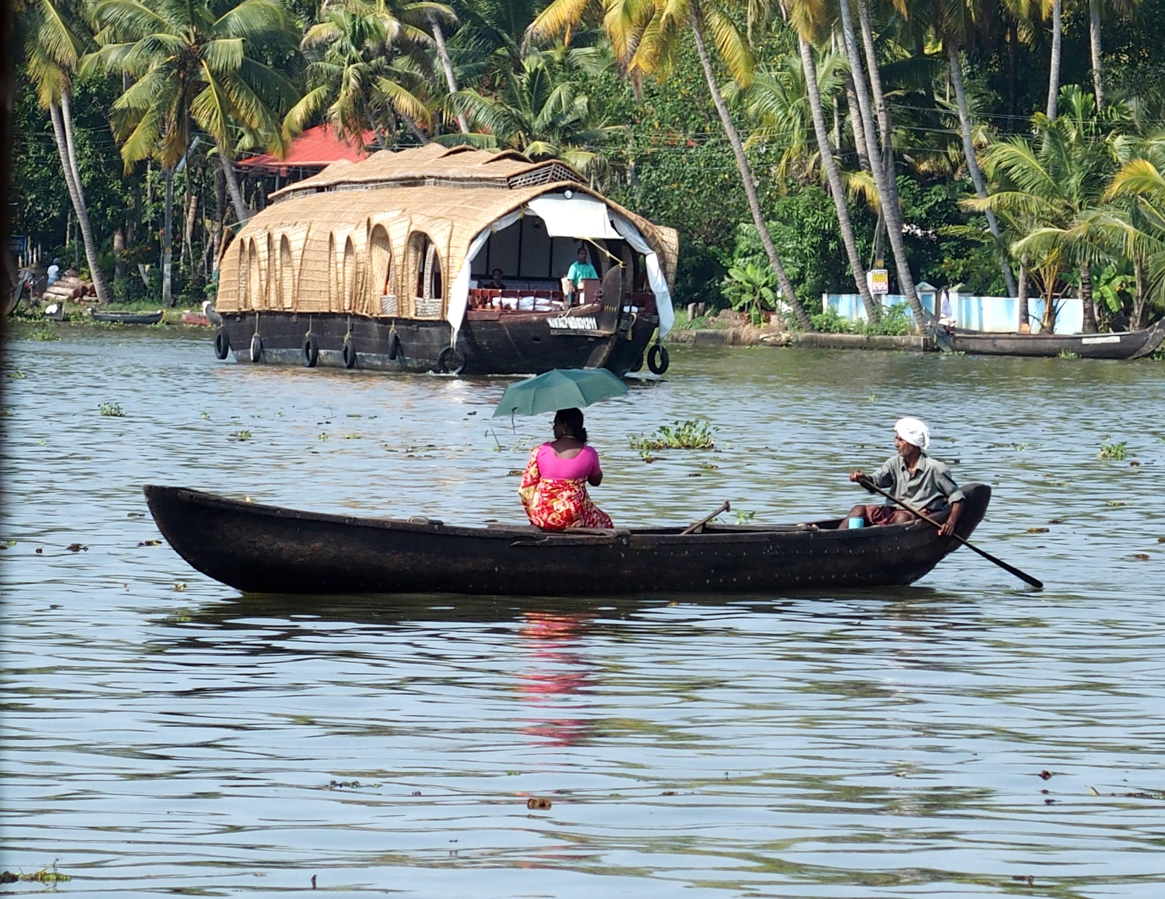 Slow travel sur un houseboat à Alleypey Inde