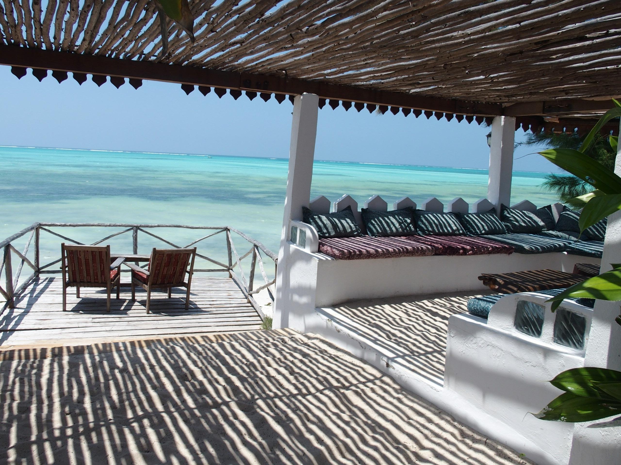 Terrasse super zen hotel Zanzibar Tanzanie.