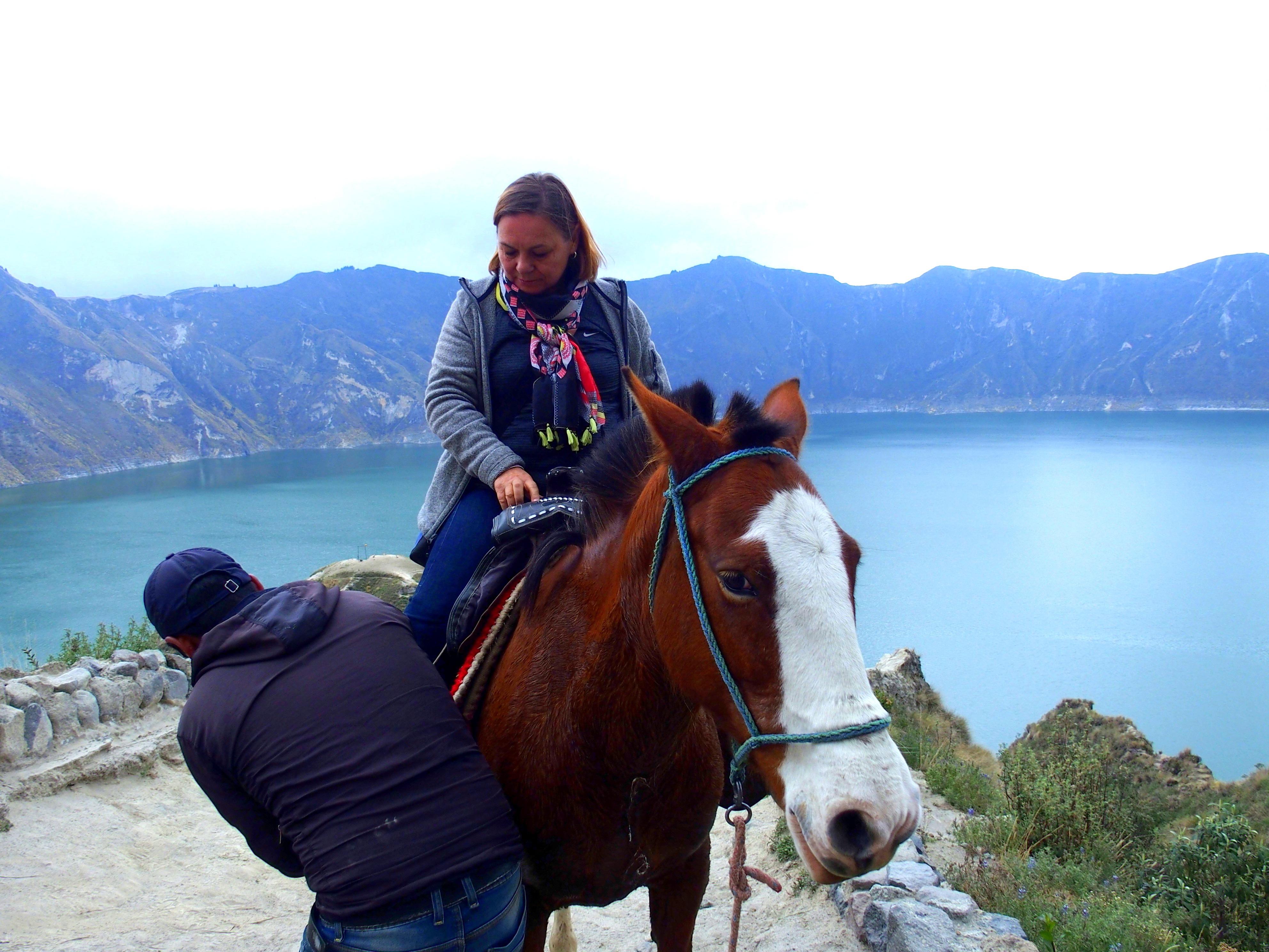 Tour de la lagune de Quilotoa à cheval Equateur