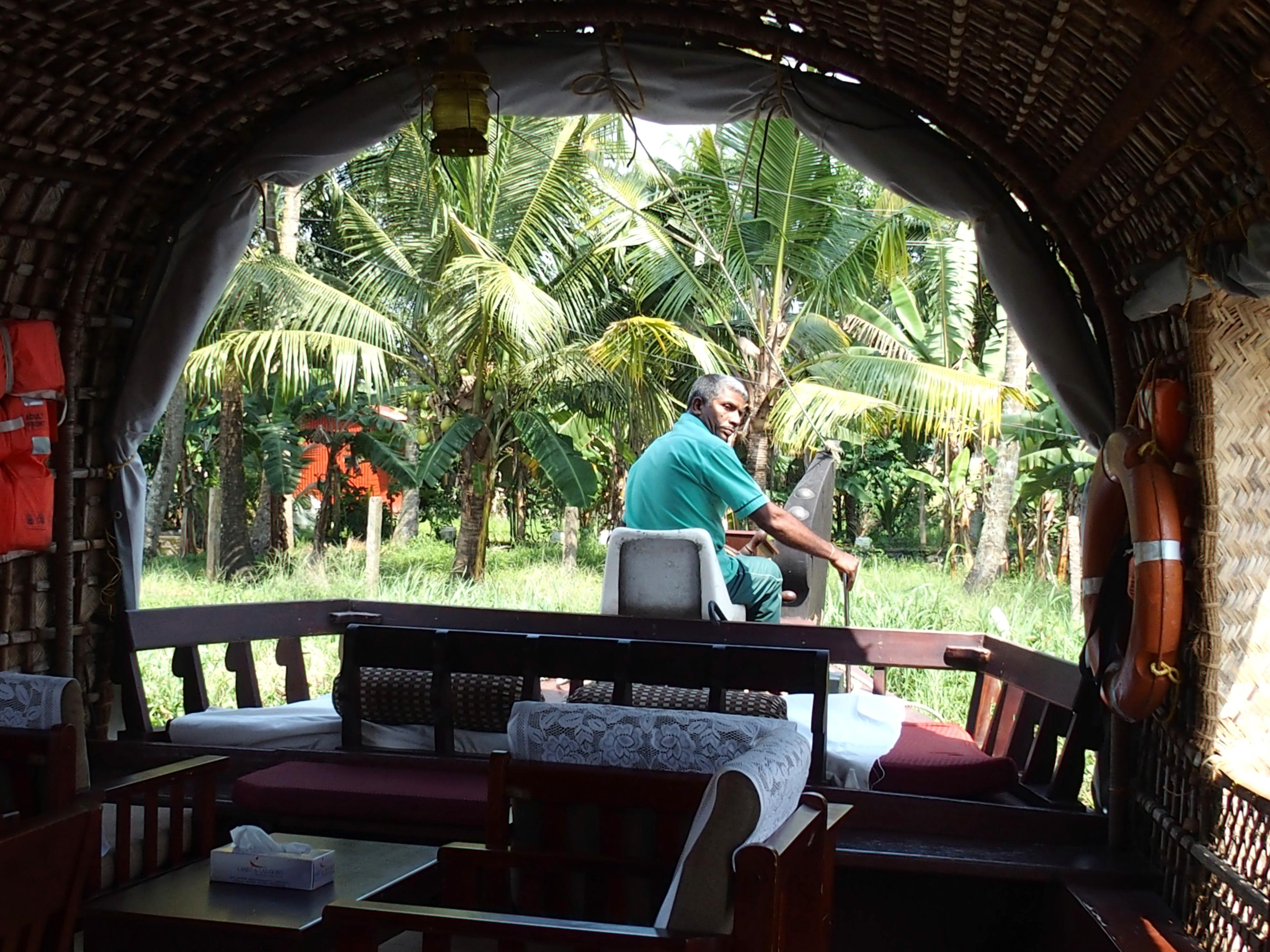 Visite des backwaters dans le Kérala en houseboat
