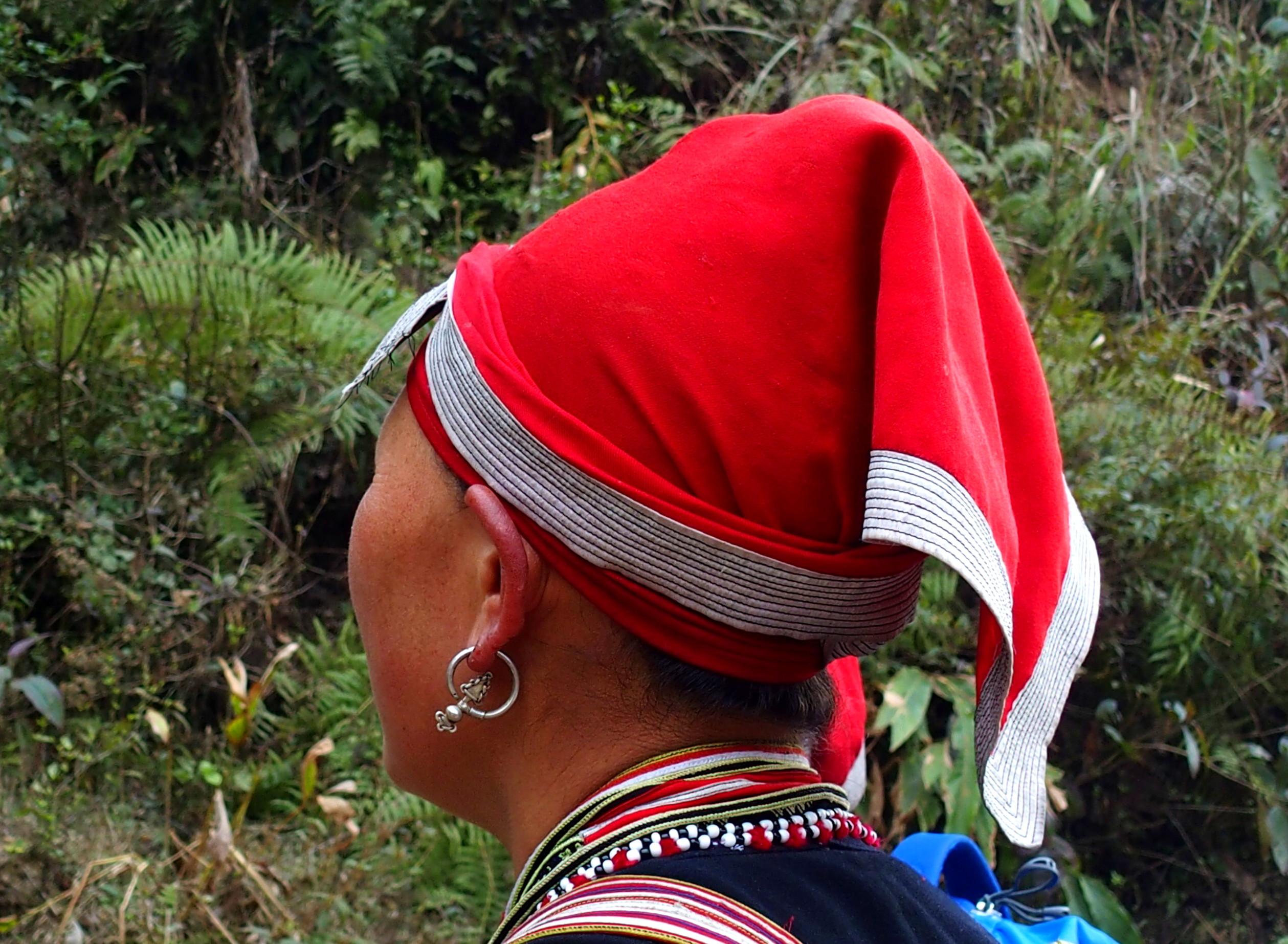 Boucle d'oreille femme Dao souvenirs du Vietnam