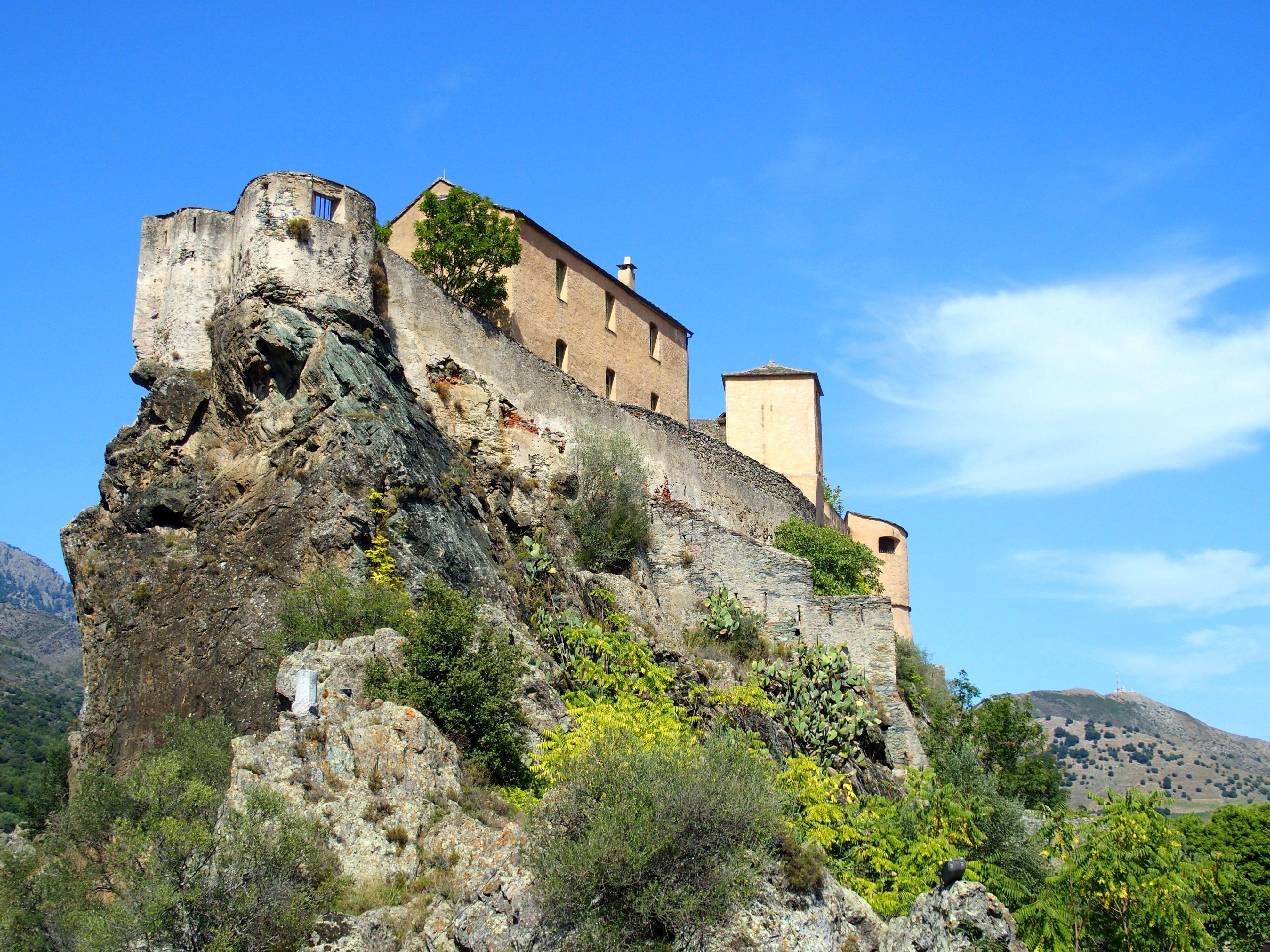 Citadelle de Corte Slow tourisme en Corse.