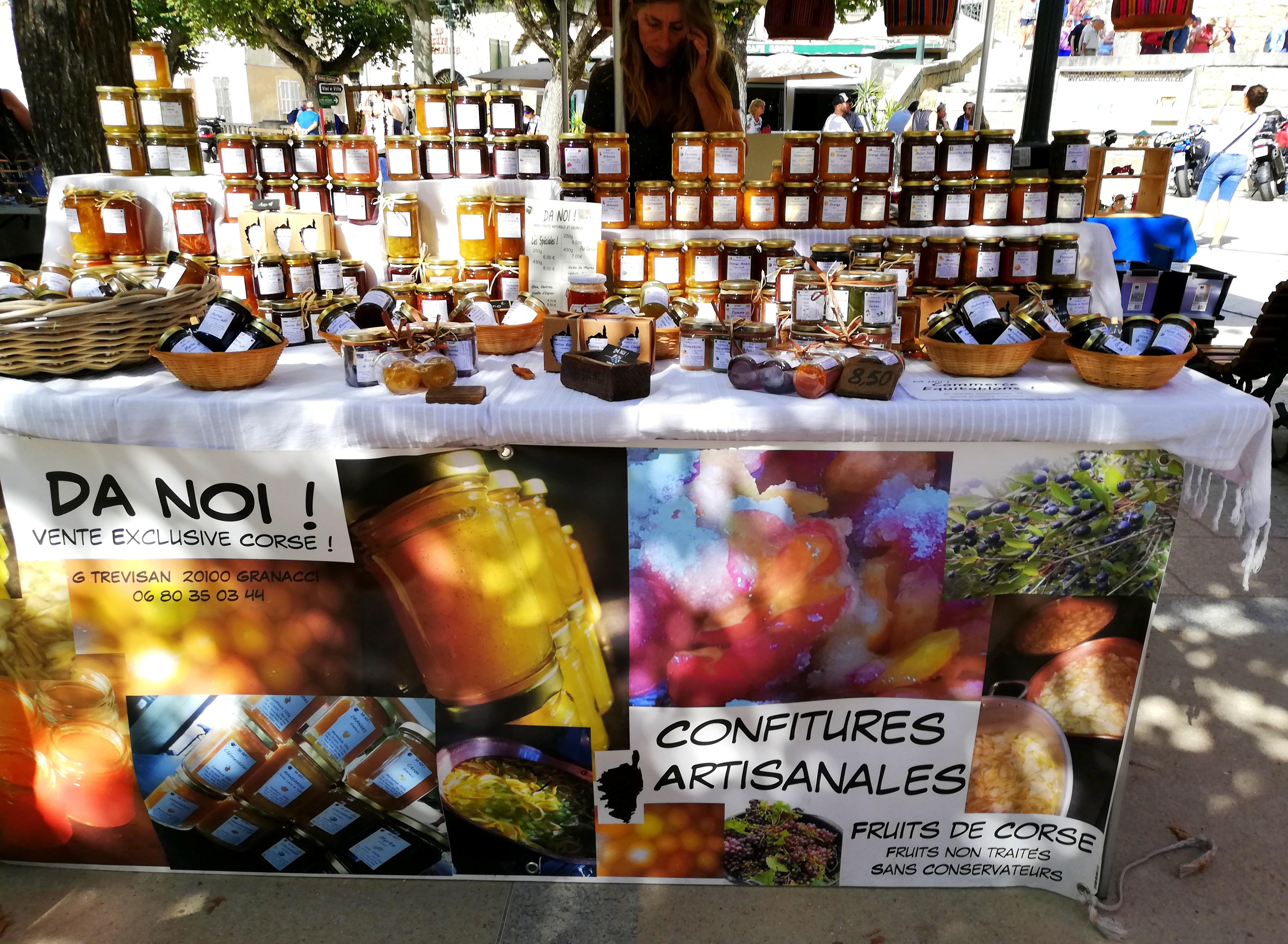 Etal confitures Slow Food Da Noi Sartene Corse